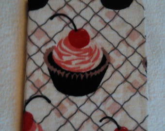 Cupcake Fabric Covered Travel Notebook