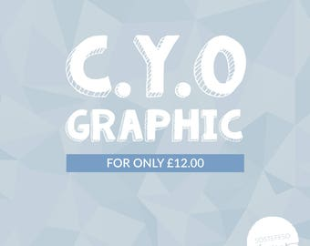 Create Your Own Graphic Poster Print | Friend, Sibling, Coworker Gift Present | Create Your Own Graphic Print