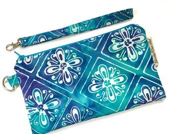 Zipper Wristlet - Zipper Pouch - Zipper Clutch - Fabric Zipper Purse - Zipper Clutch - Cosmetic Bag