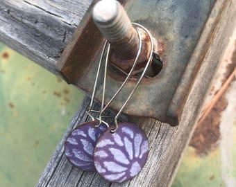 Enameled Copper Wire Earrings