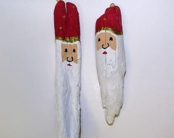 Unique Driftwood Santas