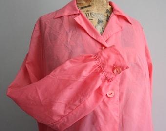 Vtg 60's Pink House Coat