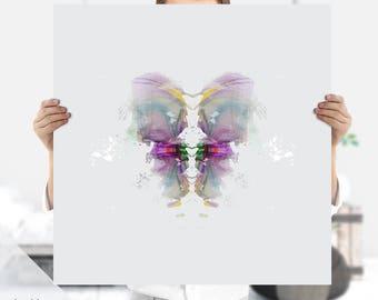 Psychology Art | Rorschach Art Print | Instant Download | Therapist Gift | Ink Print | Ink Blot | Psychiatrist Gift | Medical Art