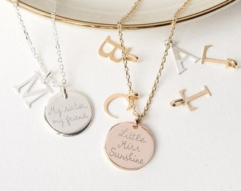 Personalized Alphabet Necklace - Merci Maman Jewellery Gift for mom, mommy, mother, birthday, mothers day, anniversary