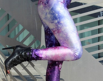 TAFI Galaxy Leggings Yoga Pants - Now in 8 Purple Sizes! Affordable Black Milk Alternative Nebula Aurora Space Print