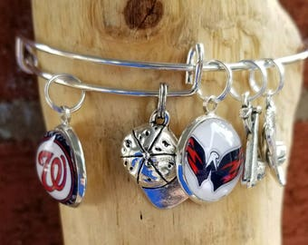 Washington Nationals wire bracelet