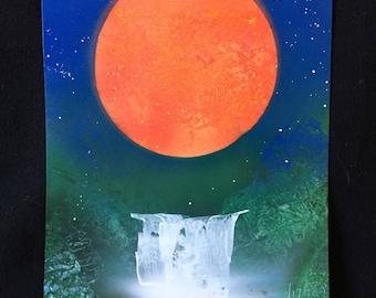 Spray Paint Art 11x14 - Red Dawn!