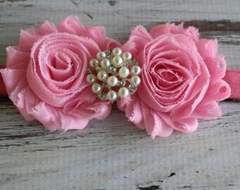 pink baby headband,pink headband,girls headbands,photo shoot headbands,newborn baby headbands,baby girl headband,pink bow,pink bows,pink bow