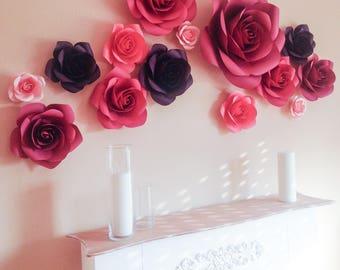 Luxury Paper Flowers - Paper Flowers Wedding Decorations - Paper Flowers Wall Decor - Large Paper Flowers - Paper Flower Wall