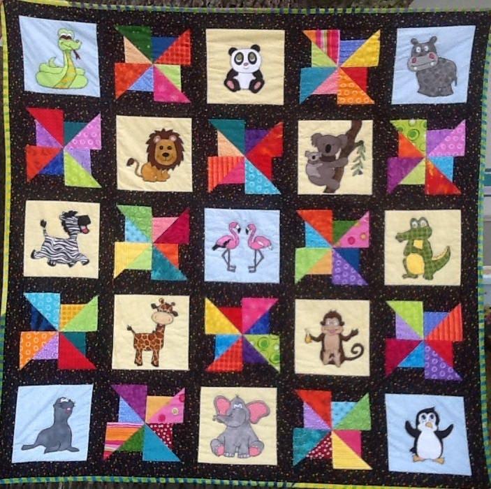 Giraffe Pdf Applique Pattern Baby Quilt Pattern Kid S