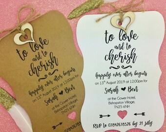 Rustic Wedding Invitation, Vintage Wedding Invitation, We Do