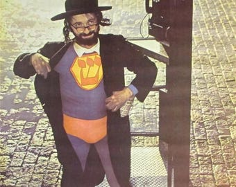Vintage 1967~JEWISH SUPERMAN~To the rescue Telephone Booth Poster