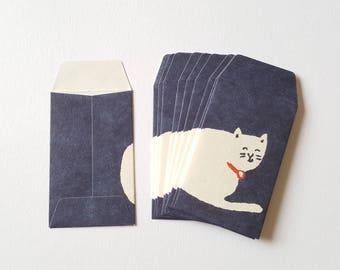 Mini envelopes, Set of 10 Japanese envelopes,  Gift card envelopes, Small paper envelopes, Tiny envelopes, Petite envelopes, Love notes