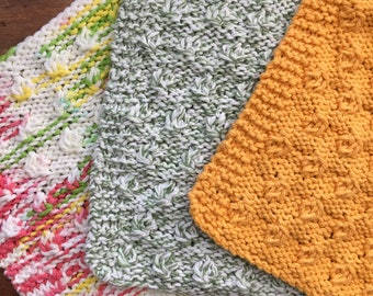 Nuts All Natural Cotton Washcloth, Ombre or Solid Colors, Spa-Like Washcloth