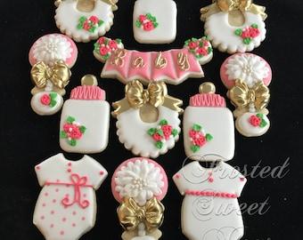 2 doz Baby Girl Cookies