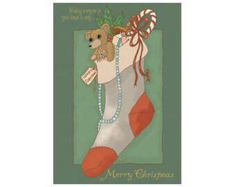 Christmas Stocking Plaque- Christmas Sign