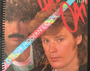 "Hall & Oates LP notebook (8.5"" x 11"")"