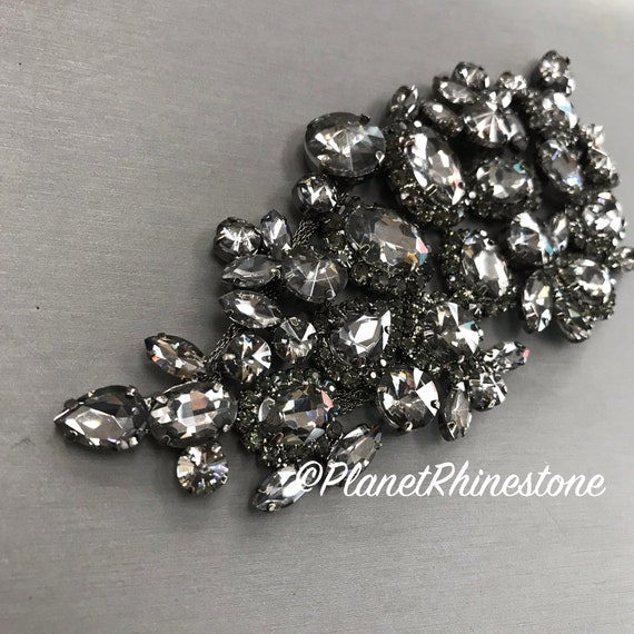 Black Rhinestone Applique #A-01