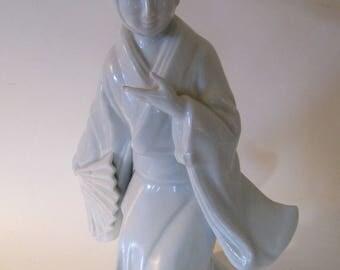 Fitz & Floyd 1977 Vintage Porcelain Figurine of Geisha Girl