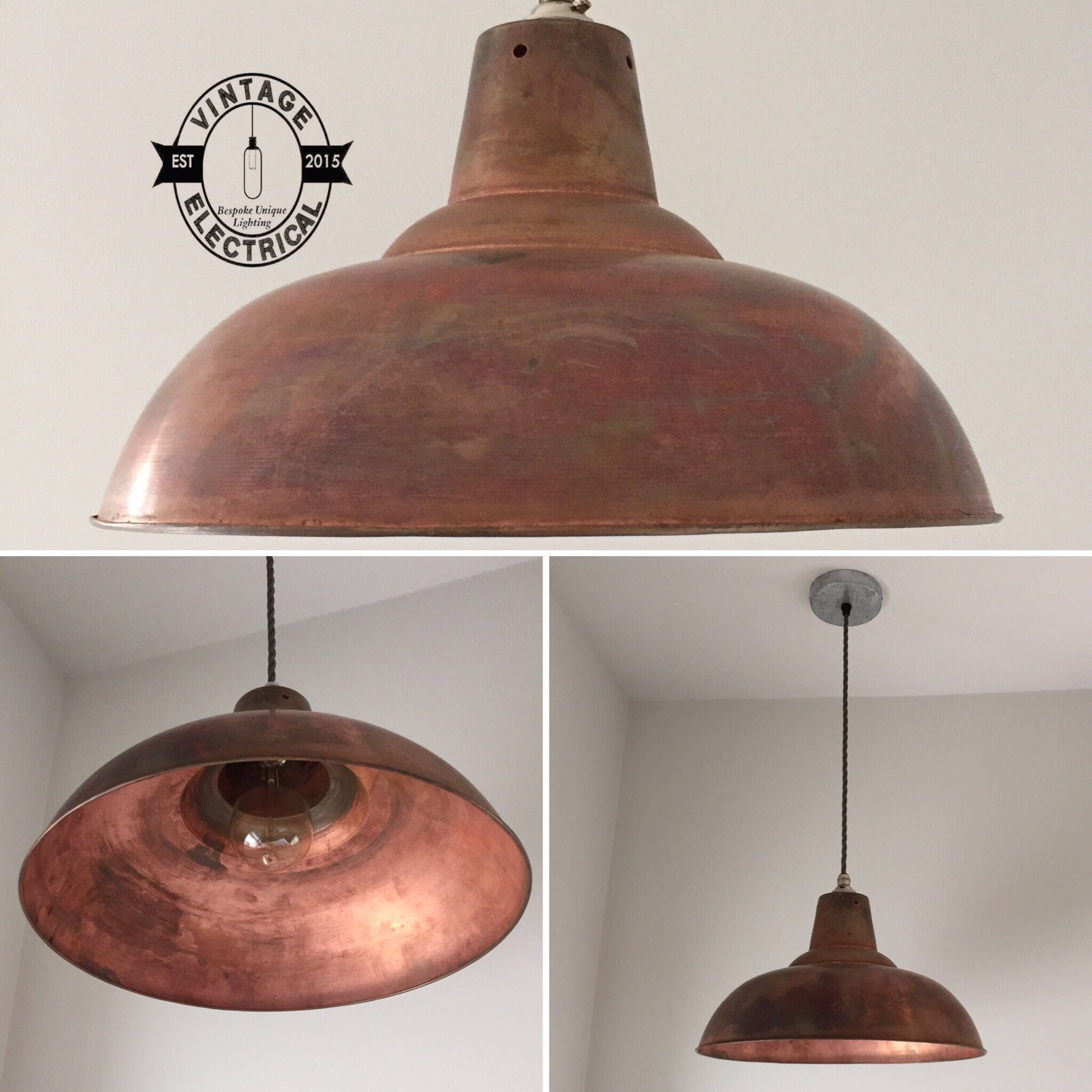 The Brancaster Copper Industrial Factory Shade Light