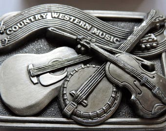 Belt Buckle Country Western Music