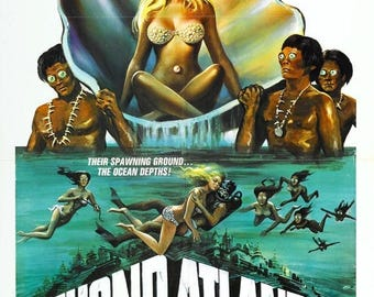 Back to School Sale: Beyond Atlantis Movie POSTER (1973) Fantasy/Horror