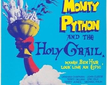 Back to School Sale: Monty Python & The Holy Grail Movie POSTER Rare