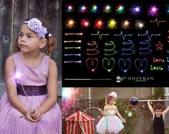 Rainbow Sparkler Overlays by Hoppman Photography