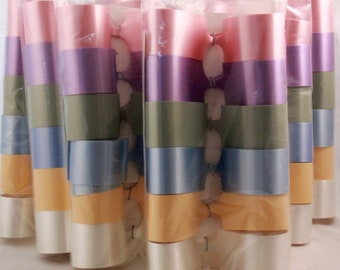 Vintage/New 6 Packages of Pastel Pom Pon Bows.