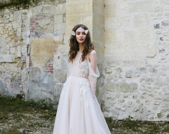 Wedding dress ANTONIA, boho wedding dress, bohemian wedding dress, bridal dress, bridal gown