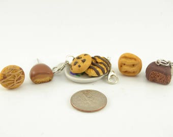 Girl Scout cookies earrings/charms. Clay cookies charm. Clay cookies earrings. Girl scout cookies Stitch Marker.