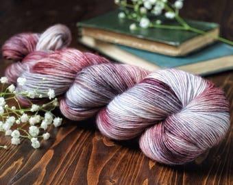Fir - Merino Singles - Potpourri - Purple Gray Single Ply - 100% Superwash Merino Singles Wool - Singles Yarn