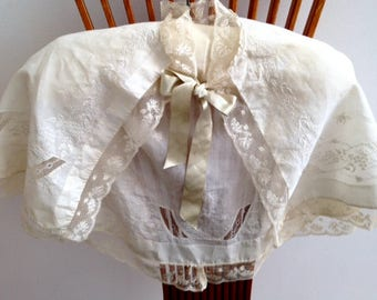 Antique Civil War Era Trousseau Capelet