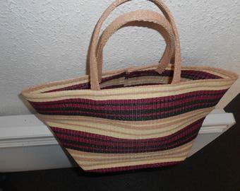 handmade basket multicolre nylon