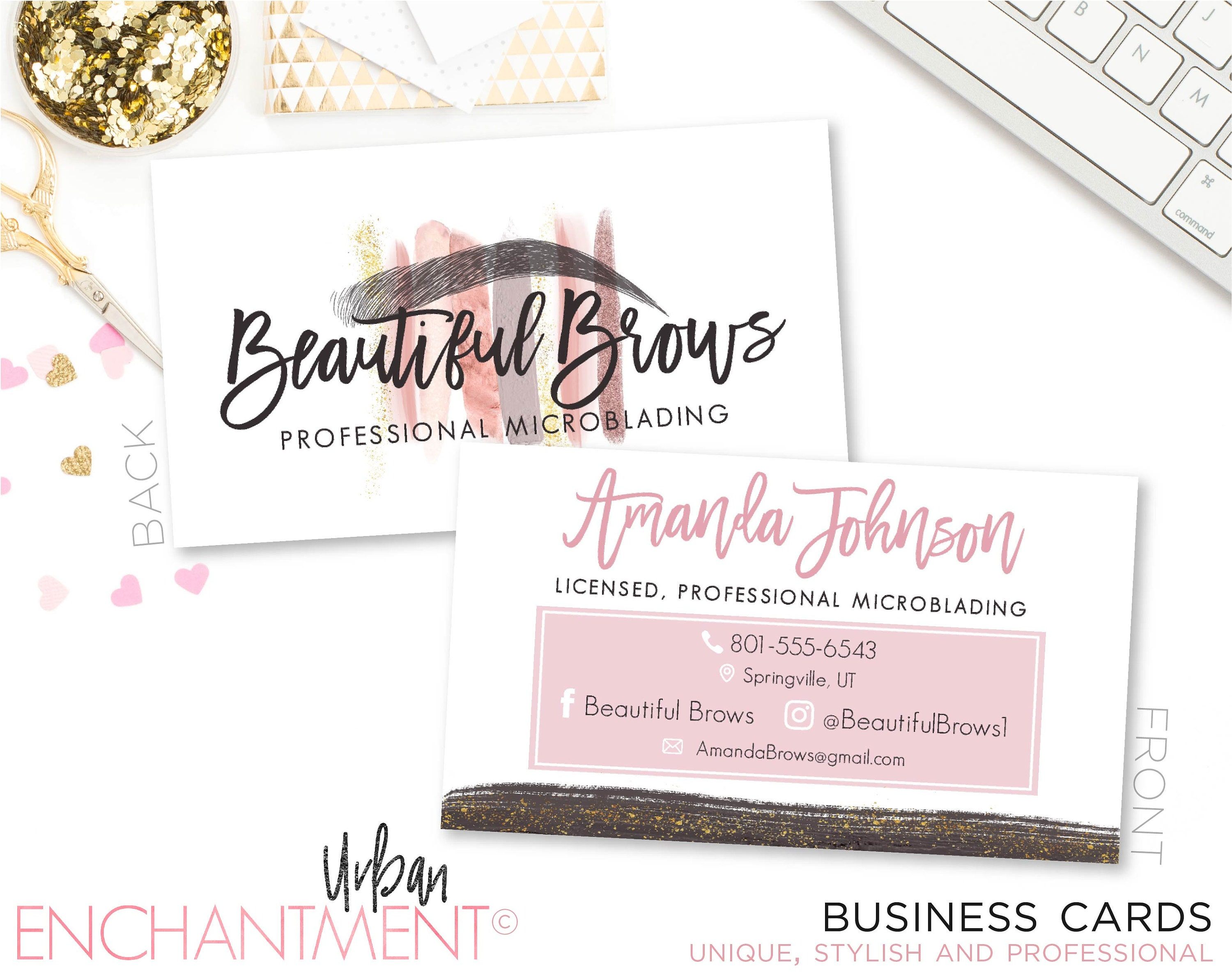 Microblading business card makeup strokes cosmetologist zoom magicingreecefo Image collections
