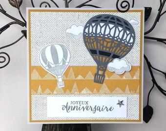 Birthday balloons - grey and mustard theme
