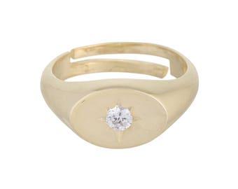 Starburst Pinky Ring