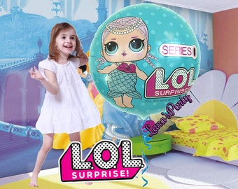 LOL Surprised Doll Birthday Balloons girls Party Foil
