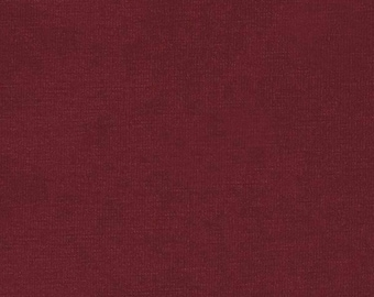 Burgundy Red In Rayon Jersey Solid Knit Fabric, Heavier Weight