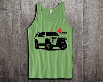 Toyota 4 Runner Tank Top, 4runner t shirts, toyota jeep shirts cars tanks land cruiser shirts truck life t shirts Unisex Tank top Motomotive