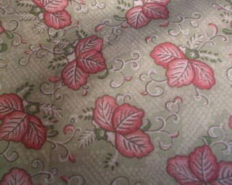 Pink and Green Floral Cotton Material Fabric VIP Print Cranston Print Works Co