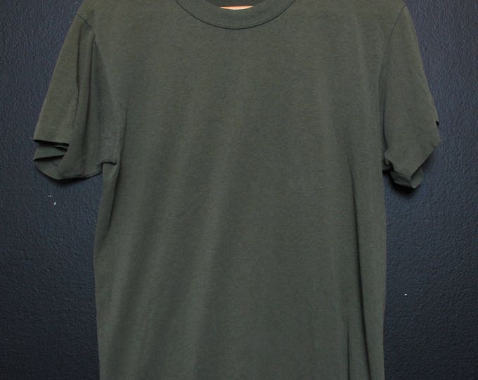Blank Army Green Screen Star Single Stitch vintage Tshirt