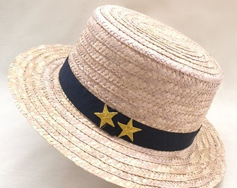 Pink Boater Hat stick star