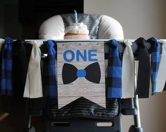 Bow Tie High Chair Banner, Little Man Highchair Banner, Little Man Birthday Party, Mr. Onederful, Banner, One Birthday Banner
