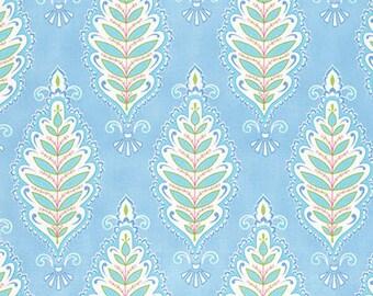 1/2 yd Meadow Willowleaf by Dena Designs for Free Spirit PWDF240.BLUEX