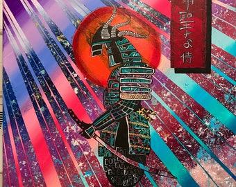 """Sacred Samurai """" orginal painting"""