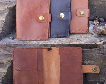 Personalised Kangaroo Leather Passport Wallet, Passport Holder, Leather Wallet, Slim, Free Personalised Initials