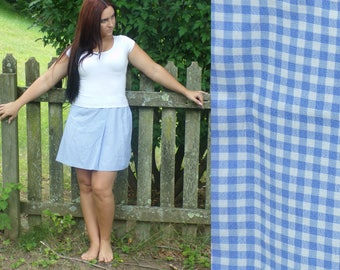 Vintage Ann Taylor Loft Plaid Skirt, Blue Plaid Skirt, Mini Skirt, Preppy Skirt, Ann Taylor Loft, Blue Plaid, Summer Skirt, Size 12 Skirt