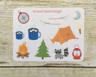Camping Small Sampler Planner Stickers Set