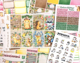 Into the Woods Fall Autumn set / kit weekly stickers - classic HAPPY PLANNER - woodland animals September October November